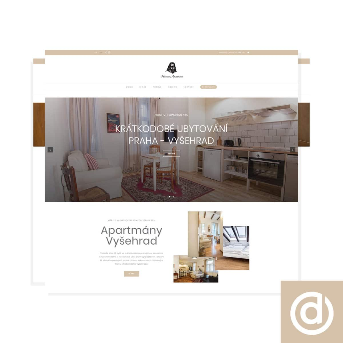 Tvorba webových stránek Hostivít Apartments