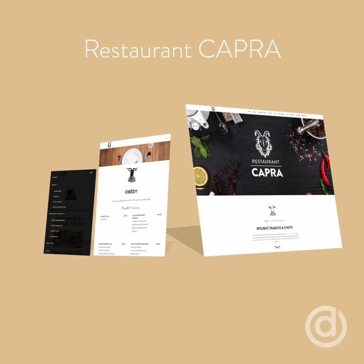 Tvorba webových stránek Restaurant CAPRA