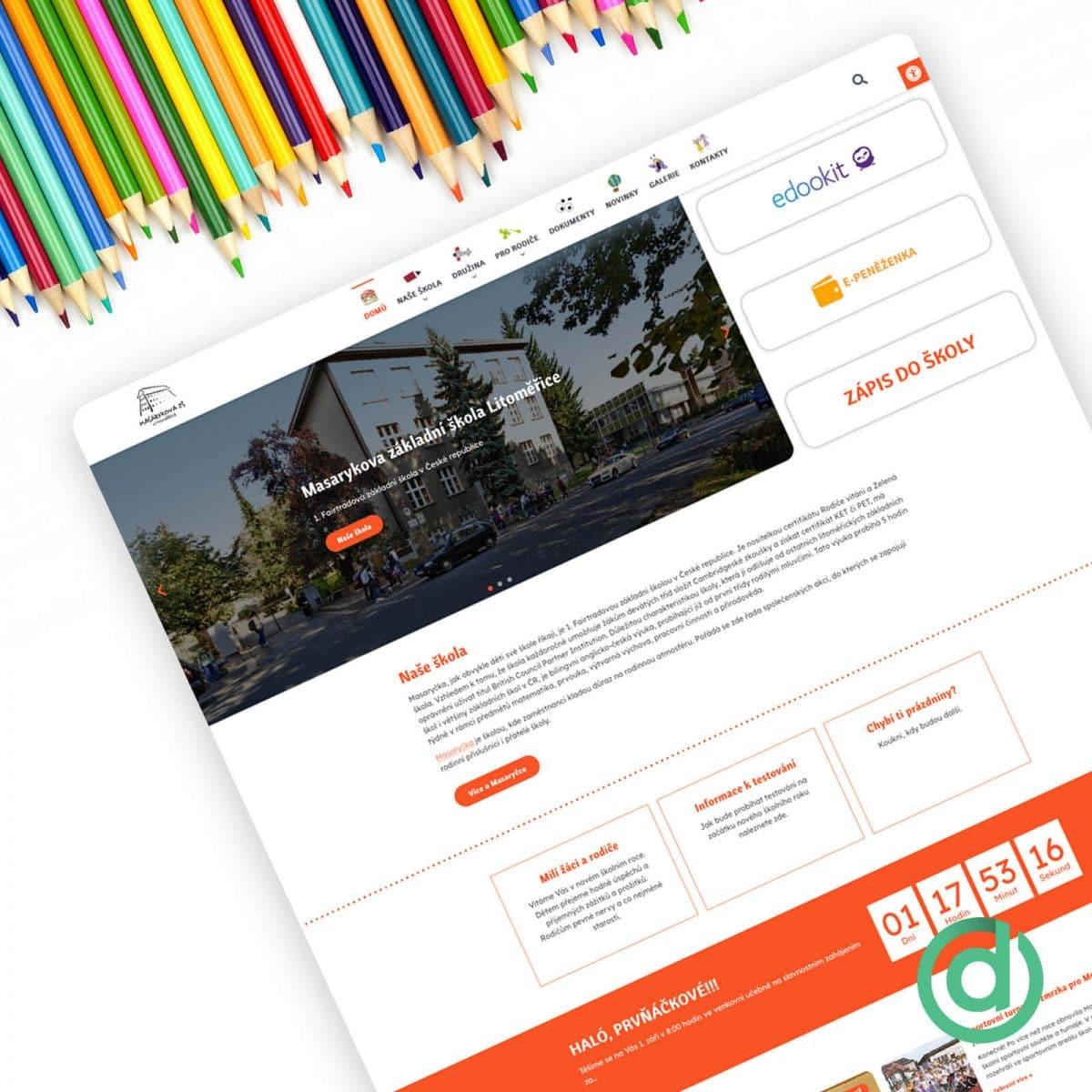 Tvorba webových stránek Masarykova základní škola Litoměřice